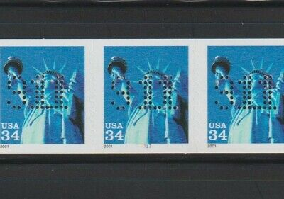"""US EFO, ERROR Stamps: #3477 Liberty. """"911"""" perfin! PS5 #3333, PNC. MNH"""