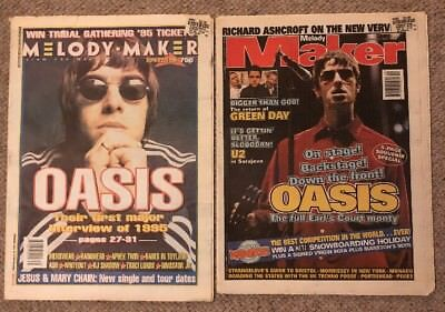 Oasis 2 Melody Maker Earls Court October 4 97 & Verve Green Day U2 April 22 1995