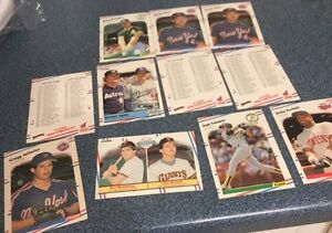 11 1988 Fleer Baseball Cards - Jefferies Rookie - Myers Rookie