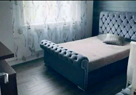 💥Buy brand new sleigh beds with headboard and mattress