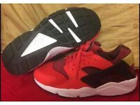 Red Black & white Nike Trainers Brand New