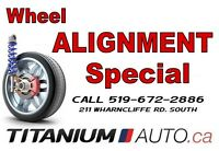 Front Wheel Alignment Special