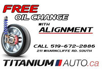 FREE OIL CHANGE WITH WHEEL ALIGNMENT    -           Limited Time