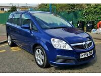 Vauxhall zafira exclusive 2009 year low mileage petrol manual for sale