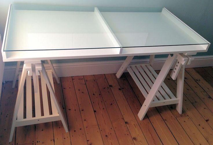 Ikea Glass Top Desk Shop Display Slaithwaite Huddersfield