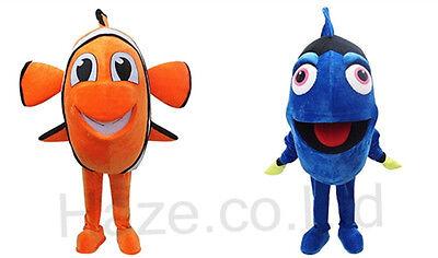 Finding Nemo Nemo  Dory Mascot Costume Fancy Dress Adult Size 1Piece](Dory Adult Costume)