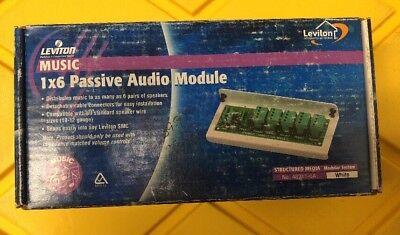 Leviton SMC Structured Media Center 1x6 Passive AUDIO Speaker Module 48211-6A Leviton Structured Media Center