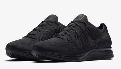Nike Flyknit Trainer Mens Running Shoes Black Anthracite
