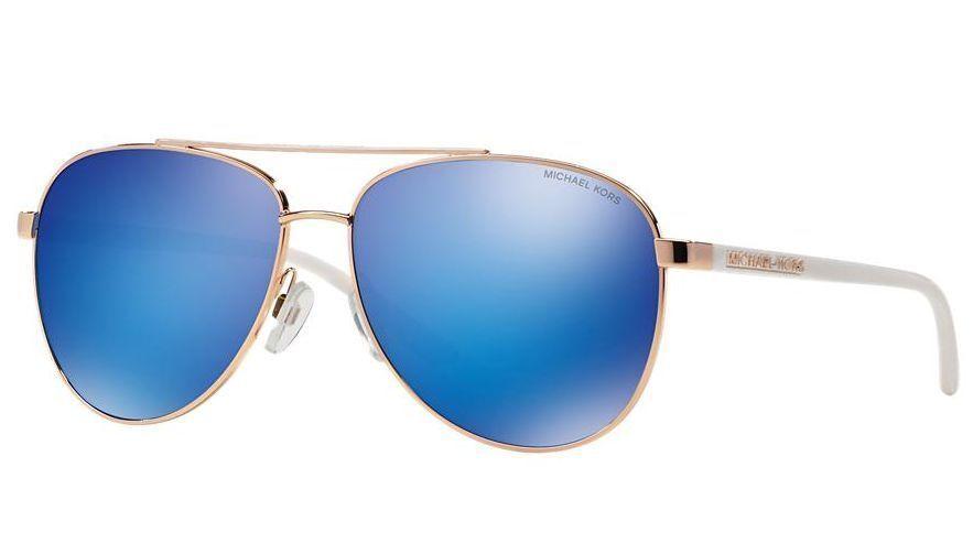 51d52b6f68 MICHAEL KORS Sunglasses MK 5007 104525 Rose Gold White Mirror Blue ...