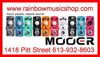 Mooer FX micro-pedals NOW IN STOCK!