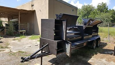 Night T Rex Bbq Smoker Cooker Grill Trailer Mobile Food Truck Catering Business