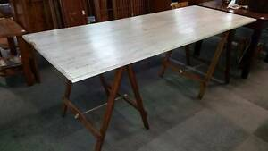 Pine Trestle Table - Folding legs Geelong Geelong City Preview