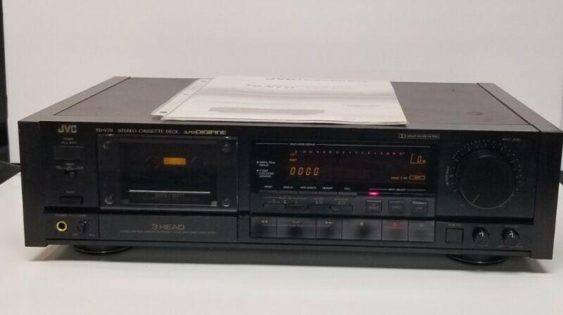 JVC TD-V711 Super Digifine 3 Head Cassette Deck Dual Capstan High End Japan