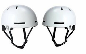 New T.H.E. Postal Stamp Bike / Skate Helmet - White - MSRP $65