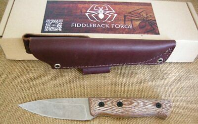 "ANDY ROY'S FIDDLEBACK FORGE PRODUCTION ""BUSHFINGER"" FIXED BLADE KNIFE"