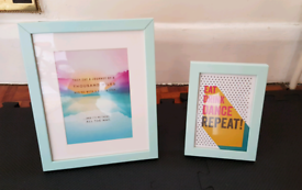 Mint coloured picture frames