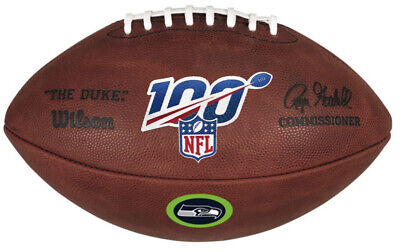 Official 100 Year NFL Leather Game Football by Wilson Seattle Seahawks Logo Wilson Official Nfl Game Football
