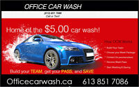$5.00 Premium Carwash - officecarwash.ca Watch|Share |Print|Repo