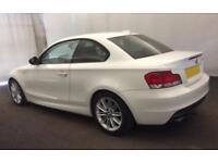 2012 WHITE BMW 118D 2.0 SPORT PLUS EDITION DIESEL COUPE CAR FINANCE FR 33 PW