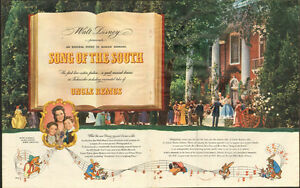 "1946 two-page color ad for Walt Disney movie ""Song of the South"""