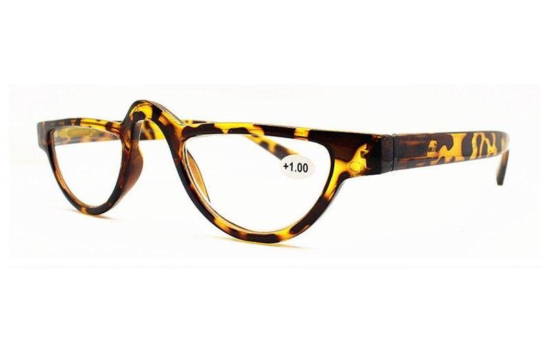 Womens Mens Vintage Half Moon Reading Glasses Readers 1.0 1.5 2.0 2.5 3.0 3.5