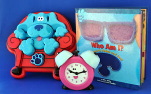 Blues Clues Blue 3D puzzle Touch feel book talking Tickety clock