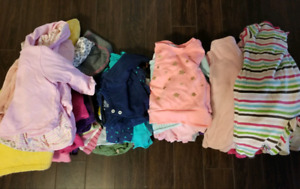 0-9 baby girl winter clothing - Lot