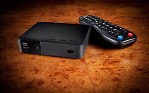 WD-TV Live Media Player DLNA/UPn Server + 8g card and cables..