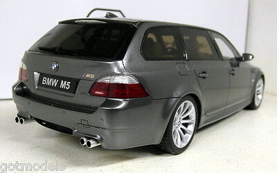 Otto 1/18 Scale BMW M5 Touring E61 Metallic grey / silver Resin cast Model Car