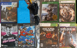 Various video games and accessories
