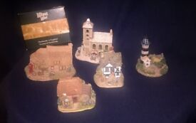 Job Lot of 5 Lilliput Lane Cottages including Christmas Church