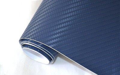 5,45€/m² 3D Carbon Folie dunkel blau - blasenfrei 1000 x 152cm Klebefolie Carbon