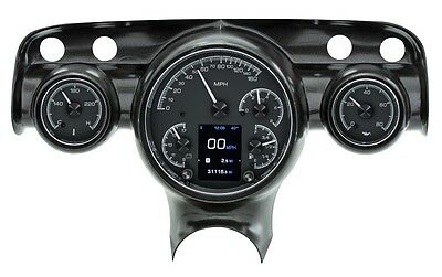 Dakota Digital 57 Chevy Car Customizable Gauge System Kit Black Alloy HDX-57C-K