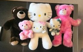 Authentic Build a Bear toys and other soft toys