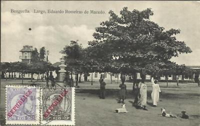 "Angola Sc#88,#103(scuff)#104 LUBANGO 16/12/13 postcard view ""Benguella"