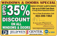UP TO $1500 GOVERNMENT REBATE ON YOUR NEW TRI-PANE WINDOWS