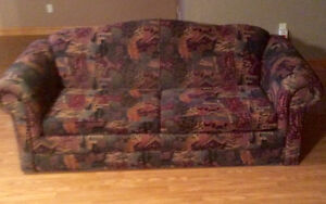Free Couch, Double Size Pull Out Bed Inside - St. Thomas