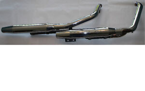Stock 2008 Heritage Softail Classic Exhaust Pipes