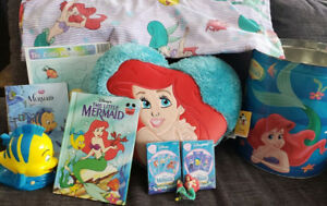 Vintage Disney Little Mermaid lot > Ariel Flounder, Sebastian