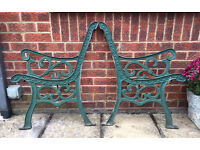 Cast Aluminium bench ends