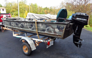 14' SPRINGBOK with 9.9 MERC, Trolling Motor and Trailer