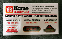 WOOD STOVE. And WETT INSPECTIONS