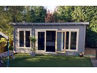6m x 4m pent log cabin
