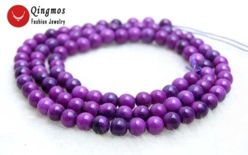 4mm purple Round Sugilite Loose Beads Strand 15