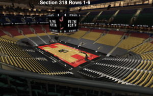 Raptors vs Indiana Pacers Dec 19th 6 Tickets Section 318 Row 6