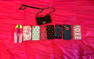 9 assorted cell phone cases. All Fit iPhone se.