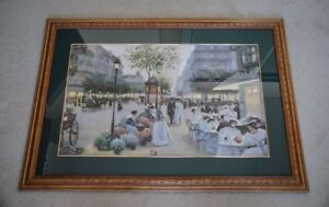 Beautiful Glass Covered Framed French Impressionist Print