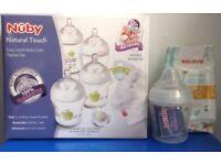 NUBY BABY FEEDING STARTER KIT newborn anti colic BOTTLES