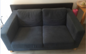 TWO SEATER IKEA NAVY BLUE SOFA - TORONTO PICK UP - AUGUST 2018