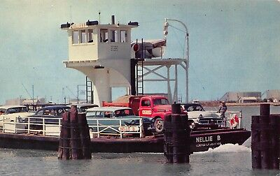 TX 1950's Nellie B Ferry Boat at Port Aransas, Texas - Nueces County